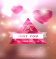Diamond texture valentine card 02 vector