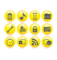 Bubbles icons gel containing garbage settings gear vector