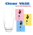 Clear vase vector