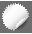 Blank white round promotional sticker vector