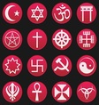 Religion symbol icon gradient style vector