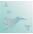 Hummingbird silhouette vector