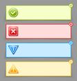 Notification banners vector