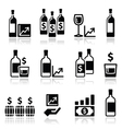 Alternative investments - investing money in wine vector