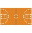 Pixel art basketball sport court layout retro 8 vector