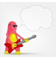 Funny monster rock star vector