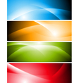 Bright abstract waves banners vector