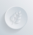 Circle icon branch with leaves vector