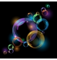 Black bubble background vector