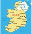 Republic of ireland - map vector