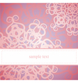 Sweet pink floral card or invitation vector