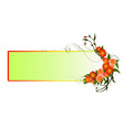 Abstract floral frame vector