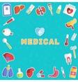Medicine flat icons set concept vector