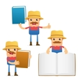 Farmer with books vector