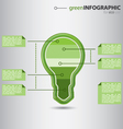 Modern green info graphic vector