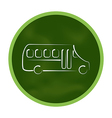 Green icon stylized chalkboard with school bus vector