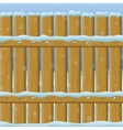 Wooden winter fence seamless vector