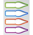 Old ink pen nib stickers vector