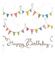 Birthday pattern with flags vector