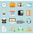 Business office stationery icons set vector