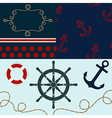 Sea theme elements for scrapbooking with textures vector