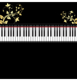 Piano with ornament vector
