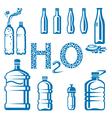 Water bottles vector