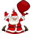 Santa fall vector