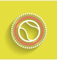 Tennis ball icon flat modern icon vector