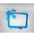Blue grunge frame vector