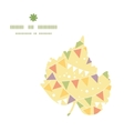Party decorations bunting leaf silhouette pattern vector