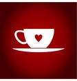 Cup heart vector