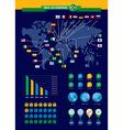 Brazil soccer championship infographic vector