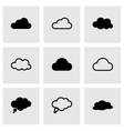 Black clouds icons set vector