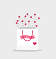 Happy valentines day wedding cards design with vector