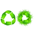 Green recycle symbol isolated on white background vector