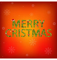 Letters tree branches and christmas tree vector