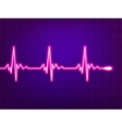 Heart cardiogram on deep fiolet eps 8 vector