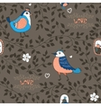 Birds and twigs background vector