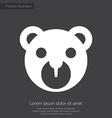 Bear toy premium icon white on dark background vector