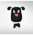 Black dog vector