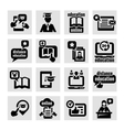 Online education concept icons set vector