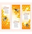 Bee banners vertical vector