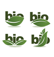 Bio symbols vector