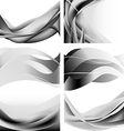 Gray abstract waves flames isolated set vector