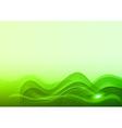Wave neon light white green vector