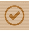 Check mark flat modern web button and space for vector