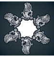Creative classic silver design background with sti vector