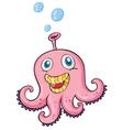 Pink octopus vector