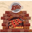 Barbecue in the fireplace vector
